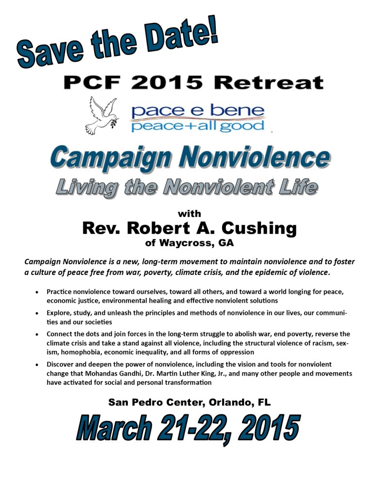 2015 PCF Retreat - Save the Date