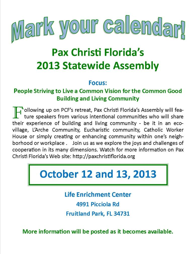 PCF 2013 Assembly Flyer