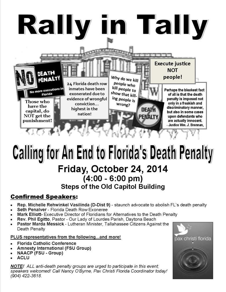 Rally in Tally Flyer - Oct 2014