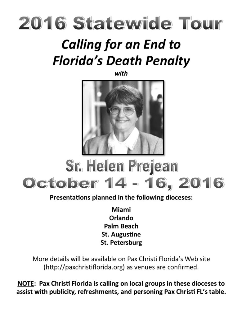 Sr. Helen Prejean DP Tour Flyer